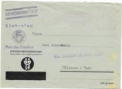 DDR Dienst Brief Absenderfreistempel KONSUM Eberswalde + Propaganda 5 Jahrplan Plan Des Friedens (30)