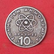 GREECE 10 APAXMAI 1982 - REPLICA 20MM-3,37GRS   - 2 SCANS - (Nº17837) - Jetons & Médailles
