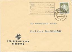 DDR Dienst Brief EF VEB Serum Werk Bernburg + Propaganda Die Freundschaft Zur Sowjetunion (35)