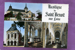 45 St Benoit Sur Loire Multivues La Basilique Le Porche Le Maitre-Autel La Grande Nef - Francia