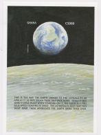 [D*] Ghana - Space, Moonlanding,1999 - Sc 2123 S/S MNH - IMPERFORATE