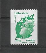 ROULETTE FRANCE 2011 Marianne Beaujard  YT 4597  Neuf**   N° NOIR  Au Verso 216 - Roulettes