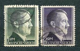 Deutsches Reich 1942, MiNr 799 A + 800 A (from Set 799-802), Used - Gebraucht