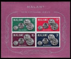 MALAWI - 1965 - NEW COINAGE ISSUE - FIRST COINS - MINT - MNH S/SHEET!