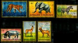 Burundi Scott N° C1.3.4.5.6.7. Aeriens Oblitérés