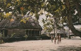 Fiji (1971) Village Scenic - Animated / Chrome W/ Better Franking To U.S.A. - Fidji
