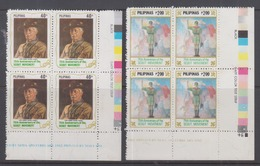Philippines 1982 75th Anniversary Of Boy Scouting Blk Of 4 MNH