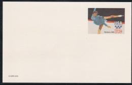 USA Postal Stationary Olympic Winter Games 1980 Lake Placid Figure Skating - Mint (G43-75a)