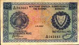 CHYPRE  250 MIL Du 1-6-1982  Pick 41c - Cyprus