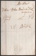 """L. Datée 1710 De CEULEN Abij Pour BRUSSEL """"pt Advijf Franco"""" - 1621-1713 (Spaanse Nederlanden)"""