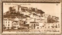 CHROMO SUCHARD EL KEF LA HAUTE VILLE TUNISIE  FORMAT  10 X 5.50 CM - Suchard