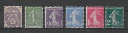 SEMEUSE 1927/1931incomplete 6 Sur 8 /YT N° 233, 234, 236, 237, 238 Et 239  Neufs** Cote Hors Centrage = 82.55 Euros - Neufs