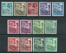 FRANCE - PREOS N° 109 à 118  MOISSONNEUSE Et COQ -  SANS GOMME  - COTE : 50,00 E - 1953-1960