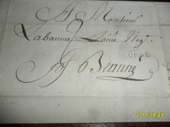 1809 - IND/6  !! - COTE D' OR  - Lettre Manuscrite TAXEE Départ 20 SEURRE Pour BEAUNE  -3 Photos - Marcophilie (Lettres)