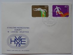 European Championships Indoor Athletics  1975 Poland  Katowice / FDC