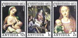 Antigua 1976 - Christmas, Madonna & Child, Paintings By Dürer, Le Greco, Le Correge  ( Mi 388/90 - YT 386/88 ) MNH**