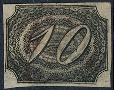 Stamp Brazil 1844  Scott #7 10 Reis Lot#15 - Brazil