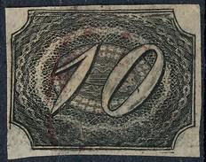 Stamp Brazil 1844  Scott #7 10 Reis Lot#15 - Brésil