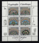 DDR Kleinbogen Mi-Nr. 3057 - 3062 Erzgebirgische Schwibbogen Gestempelt 9113 CLAUSSNITZ