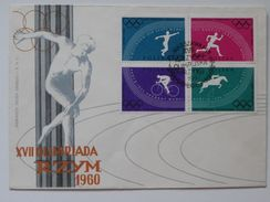 Olympic Games 1960 Rome  / Poland  FDC /