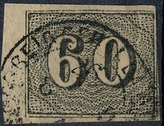Stamp Brazil 1850  Scott #24 60 Reis Lot#28 - Brazil