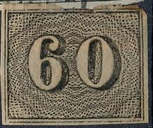 Stamp Brazil 1850  Scott #24 60 Reis Lot#29 - Brazil