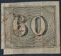 Stamp Brazil 1850  Scott #24 60 Reis Lot#34 - Brazil