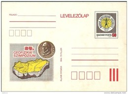 3479 Hungary Postcard Science Coin Geography Map Unused