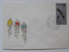 XXV Peace Race Warsaw Berlin Prag / Cycling 1971 Year   / Poland  FDC /