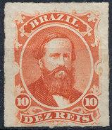 Stamp Brazil 1876  Scott #61 10 Reis Lot#45 - Ungebraucht