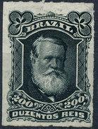 Stamp Brazil 1878  Scott #73 200 Reis Lot#50 - Neufs