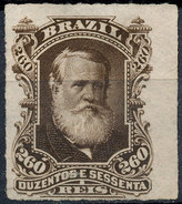 Stamp Brazil 1878  Scott #74 260 Reis Lot#51 - Neufs