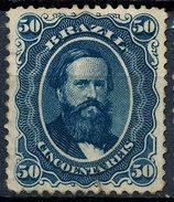 Stamp Brazil 1866  Scott #56 50 Reis Lot#59 - Ungebraucht