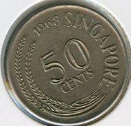 Singapour Singapore 50 Cents 1968 KM 5 - Singapur