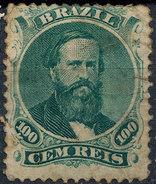 Stamp Brazil 1866  Scott #58 100 Reis Lot#63 - Neufs