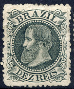 Stamp Brazil 1882  Scott #82 10 Reis Lot#70 - Unused Stamps