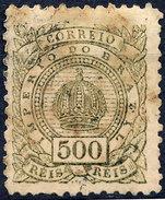 Stamp Brazil 1887  500 Reis Mint/used? Lot#71 - Unused Stamps