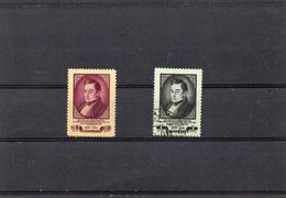 Russie 1954 - 125 Eme Anniversaire Mort Griboledov YT 1675 ** 1676 Obl