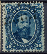 Stamp Brazil 1866  50 Reis Used Lot#8 - Used Stamps