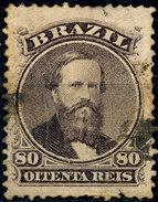 Stamp Brazil 1866  80 Reis Used Lot#11 - Oblitérés