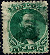 Stamp Brazil 1866  100 Reis Used Lot#23 - Oblitérés
