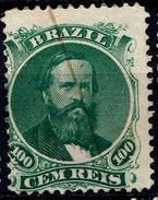 Stamp Brazil 1866  100 Reis Used Lot#25 - Brésil