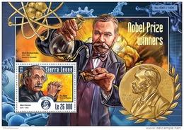 SIERRA LEONE 2015 ** Nobel Prize Winners Albert Einstein S/S - OFFICIAL ISSUE - A1539