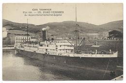 CPA - PORT VENDRES, LE GOUVERNEUR GENERAL LEPINE - Pyrénées Orientales 66 - Ecrite 1924 - Paquebots