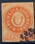 Stamp Argentine Republic 1862-63 Used  Lot#8 - 1858-1861 Confédération