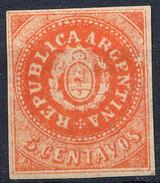 Stamp Argentine Republic 1862-63 5c Mint  Lot#10 - Nuovi