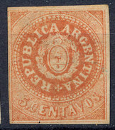 Stamp Argentine Republic 1862-63 5c Mint  Lot#11 - Nuovi