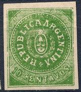 Stamp Argentine Republic 1862-63 10c Mint  Lot#18 - 1858-1861 Confédération