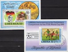 Springreiter 1973 Liberia Blocks 64+109 O 9€ Soccer Championat 1986 Mexico Hojas Ss Blocs Olympics Sheets Bf Africa