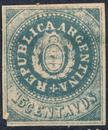 Stamp Argentine Republic 1862 15c Mint  Lot#22 - Nuovi